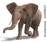 giant elephant. 3d render with... | Shutterstock . vector #32400817