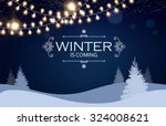 christmas card. winter... | Shutterstock .eps vector #324008621