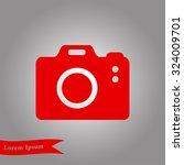 photo camera simbol. dslr... | Shutterstock .eps vector #324009701