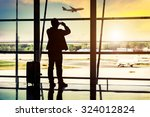 passenger in the beijing airport | Shutterstock . vector #324012824