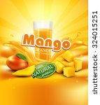 vector background with mango  a ... | Shutterstock .eps vector #324015251