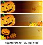 grunge halloween headers   Shutterstock . vector #32401528