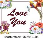 vintage gentle spring... | Shutterstock . vector #324018881
