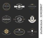 retro logotypes vector set.... | Shutterstock .eps vector #324028847