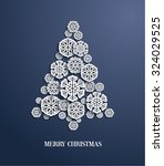 christmas tree made of paper... | Shutterstock .eps vector #324029525
