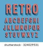 retro font with light bulbs.... | Shutterstock .eps vector #324029531