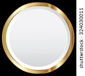 vector gold frame   Shutterstock .eps vector #324030011