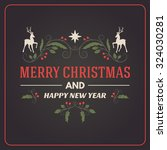 christmas postcard decorative... | Shutterstock .eps vector #324030281