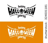 happy halloween party title... | Shutterstock .eps vector #324031181