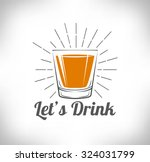 whiskey  drinking glass ... | Shutterstock .eps vector #324031799
