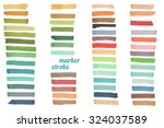 color stripes drawn with japan... | Shutterstock . vector #324037589
