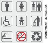 toilet restroom icons | Shutterstock .eps vector #324038855