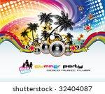 disco dance tropical music... | Shutterstock . vector #32404087
