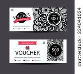 gift voucher template zentangle ... | Shutterstock .eps vector #324041024