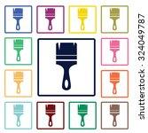 brush icon | Shutterstock .eps vector #324049787