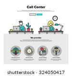 one page web design template... | Shutterstock .eps vector #324050417