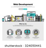 one page web design template... | Shutterstock .eps vector #324050441