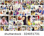 diverse people students start... | Shutterstock . vector #324051731