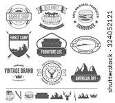retro vintage insignias set ... | Shutterstock .eps vector #324052121