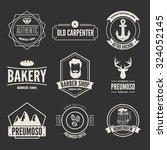 retro vintage insignias set ... | Shutterstock .eps vector #324052145