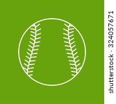 vector outline baseball icon on ... | Shutterstock .eps vector #324057671