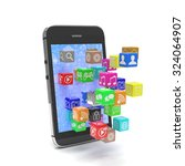 icon app fall in smart phone   Shutterstock . vector #324064907
