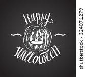 halloween sign calligraphy.... | Shutterstock .eps vector #324071279