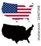 vector map and flag of united... | Shutterstock .eps vector #32407348