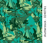 graphic camouflage | Shutterstock .eps vector #3240761