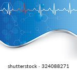 abstract  medical background ... | Shutterstock .eps vector #324088271