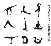 vector illustration of yoga... | Shutterstock .eps vector #324091325
