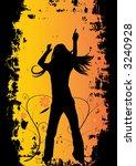 woman dancing  vector party... | Shutterstock .eps vector #3240928