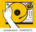 hand scratching vinyl | Shutterstock .eps vector #324093371