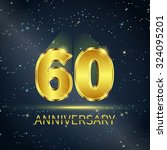 postcard 60 years anniversary... | Shutterstock .eps vector #324095201