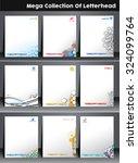 corporate identity template.... | Shutterstock .eps vector #324099764