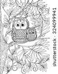coloring book for adult and... | Shutterstock .eps vector #324099941