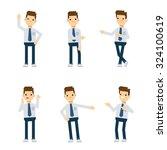 set of vector flat style... | Shutterstock .eps vector #324100619