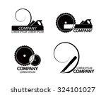 a set of logos  emblems of... | Shutterstock .eps vector #324101027