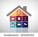 home automation   smart house... | Shutterstock .eps vector #324105101