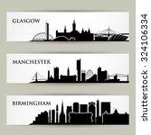 united kingdom city skylines  ... | Shutterstock .eps vector #324106334