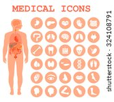 medical infographic icons ... | Shutterstock .eps vector #324108791