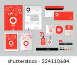 corporate identity template for ... | Shutterstock .eps vector #324110684
