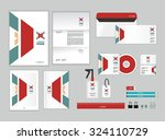 corporate identity template for ... | Shutterstock .eps vector #324110729