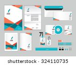 corporate identity template for ... | Shutterstock .eps vector #324110735