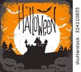 halloween vector illustration... | Shutterstock .eps vector #324110855