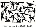 collection fitness  sport ... | Shutterstock .eps vector #324114641