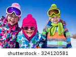 group of children playing on... | Shutterstock . vector #324120581