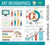 art infographics set with... | Shutterstock .eps vector #324121181