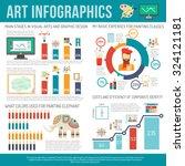 art infographics set with... | Shutterstock .eps vector #324121181
