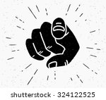 retro human hand with the... | Shutterstock .eps vector #324122525